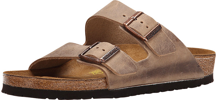 birkenstock arizona oiled leather tobacco brown