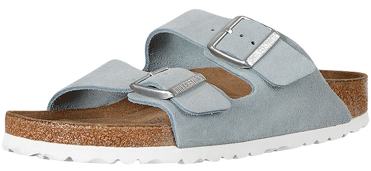 Arizona Soft Footbed Light Blue Suede Narrow Width