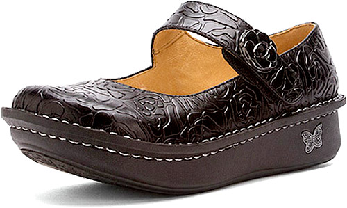 Paloma Black Embossed Rose