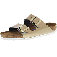 Arizona Soft Footbed Spectacular Platinum Leather Narrow Footbed