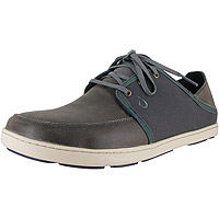 Men's Nohea Lace Leather Charcoal/Dark Shadow