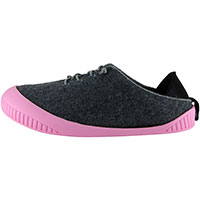 Fit Lace-Up Shoe Dark Grey With Pink Removable Sole