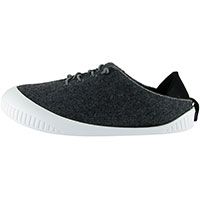 Fit Lace-Up Shoe Dark Grey With White Removable Sole