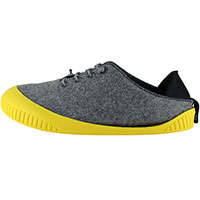 Fit Lace-Up Shoe Light Grey With Yellow Removable Sole