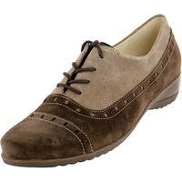 Toni Glee Oxford Brown/Beige Suede