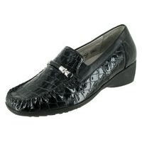 Hazel Loafer Black Croco