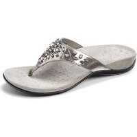 Vionic with Orthaheel Pearl Pewter Patent