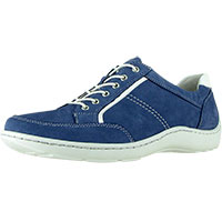 Jasmine Henni Oxford New Blue Nubuck