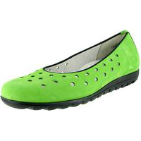 Hadya Perforated Ballet Green Nubuck