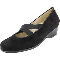 Hilke Mary Jane Black Suede