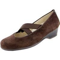 Hilke Mary Jane Brown Suede