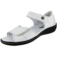 Hilena Velcro Sandal White Leather