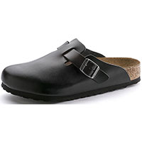 Boston Soft Footbed Black Amalfi Leather Regular Width