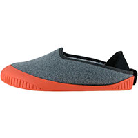 Kush Classic Slipper Light Grey With Salmon Removable Sole