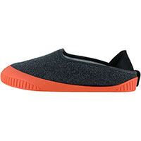 Kush Classic Slipper Dark Grey With Salmon Removable Sole