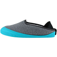 Kush Classic Slipper Light Grey With Teal Removable Sole