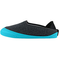 Kush Classic Slipper Dark Grey With Teal Removable Sole