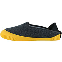 Kush Classic Slipper Dark Grey With Yellow Removable Sole