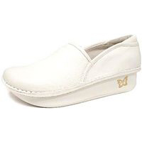 Debra Clog White Leather