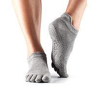 Grip Full Toe Low Rise Heather Grey