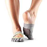 Dance Full Toe Releve Heather Grey/Limeaid