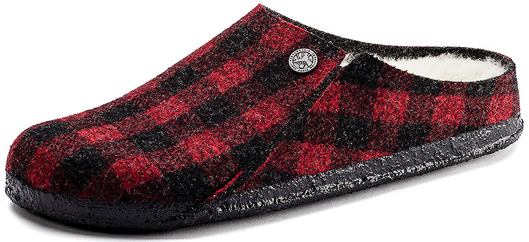 Men's Zermatt Shearling Wool Plaid Red Regular Width