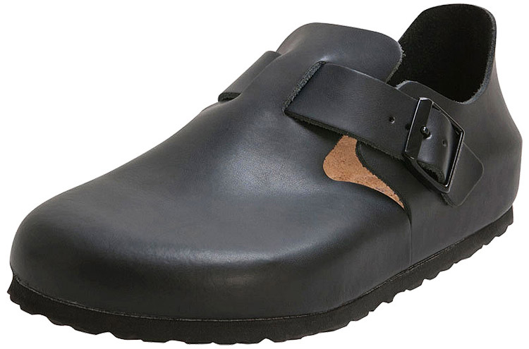 London Soft Footbed Hunter Black Leather Regular Width