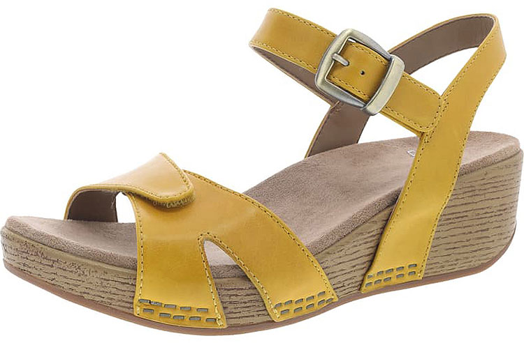 Laurie Yellow Burnished Calf