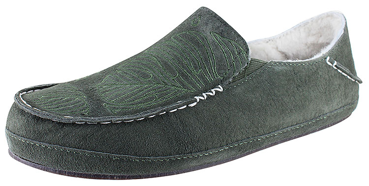 Nohea Slipper Dusty Olive/Monstera