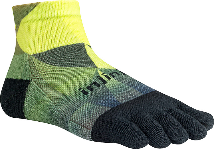 RUN 2.0 Midweight Mini-Crew Geo Lime/Black