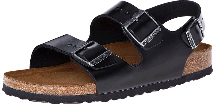 Milano Soft Footbed Black Amalfi Leather Regular Width