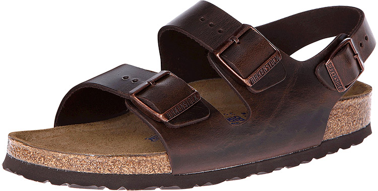 Milano Soft Footbed Brown Amalfi Leather Regular Width