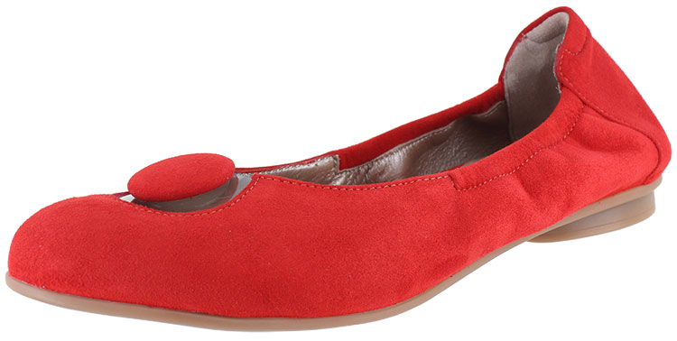 Mary Red Suede