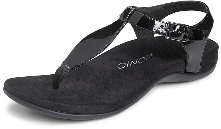 Vionic With Orthaheel Paden Black Patent Sole Provisions