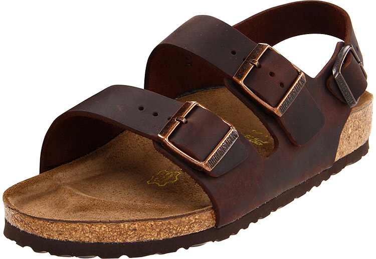 7e87a3307f35 Birkenstock Milano Habana Oiled Leather Regular Width - Sole ...