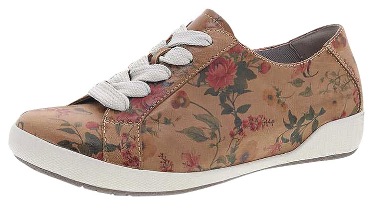 Orli Tan Floral Leather