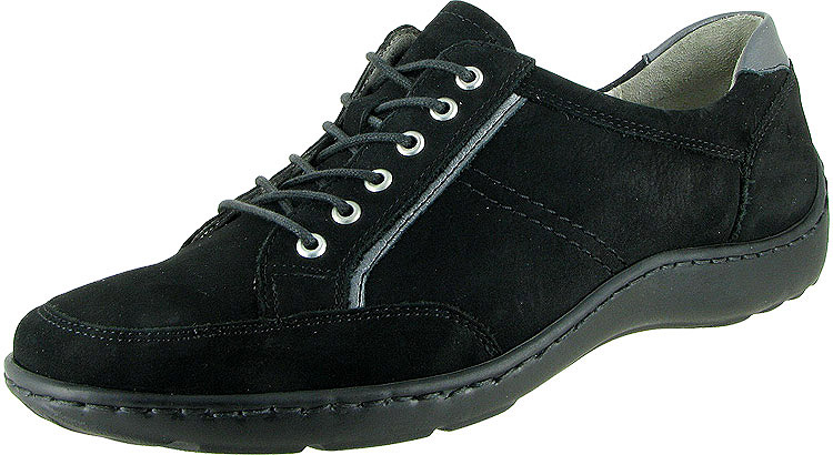 Jasmine Henni Oxford Black Nubuck