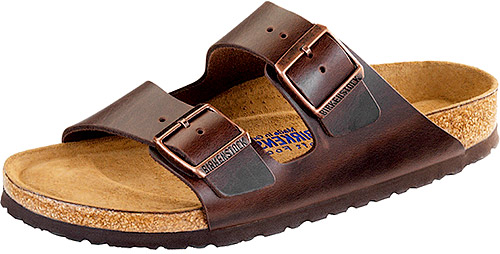 Arizona Soft Footbed Brown Amalfi Leather Narrow Width