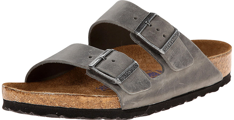 Arizona Soft Footbed Iron Oiled Leather Regular Width