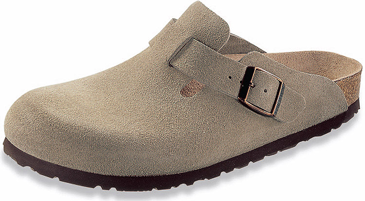 Boston Soft Footbed Suede Taupe Regular Width