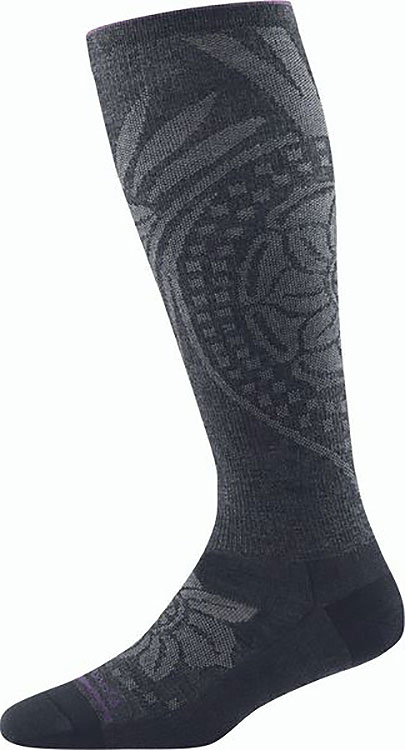 Chakra Knee High Lightweight W/ Graduated Light Compression Charcoal