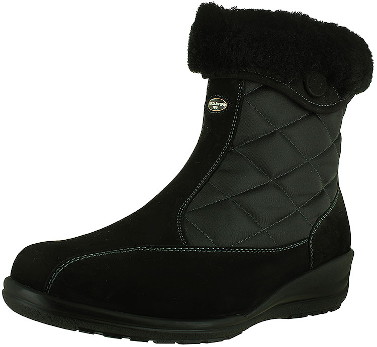 Ellie Korrina Wide Black Waterproof Nubuck