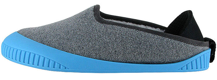 Kush Classic Slipper Light Grey With Sky Blue Removable Sole