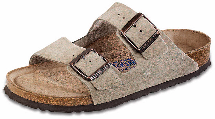 Arizona Soft Footbed Taupe Suede Regular Width