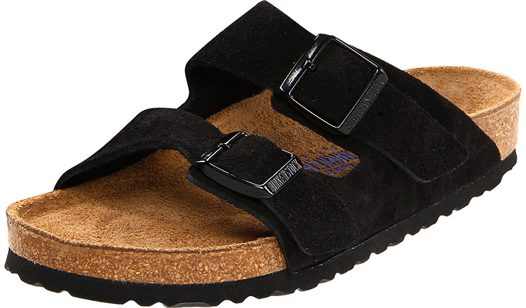 Arizona Soft Footbed Suede Black Regular Width