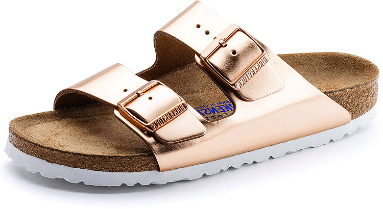 Arizona Soft Footbed Copper Leather Narrow Width