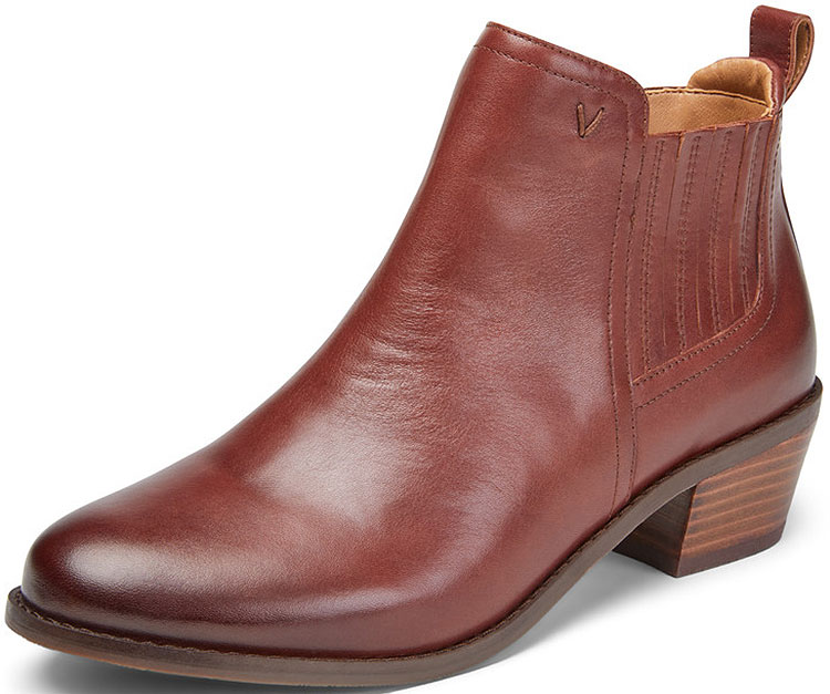 Bethany Leather Ankle Boot Beaver