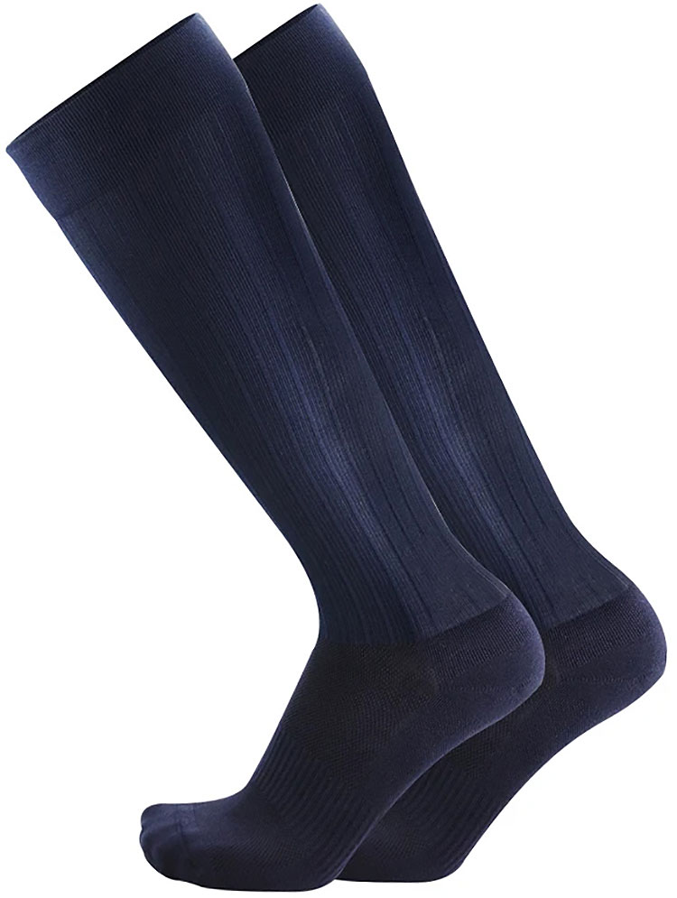 TS5 Travel Socks Over The Calf Navy