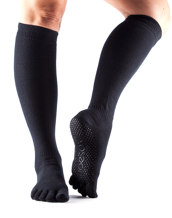 Grip Full Toe Knee High Scrunch Black