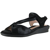 Hailey Black Shiny Scaly Print Suede